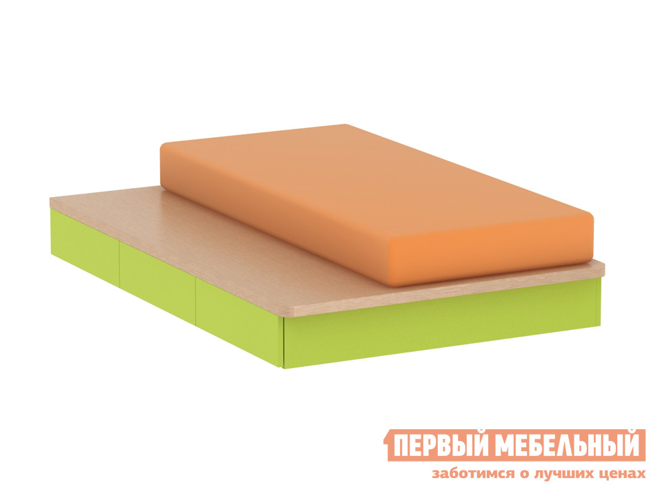 Детская кровать ОГОГО Обстановочка! Пиноккио П-КТ Лайм огого обстановочка стол письменный pinokkio лайм серый