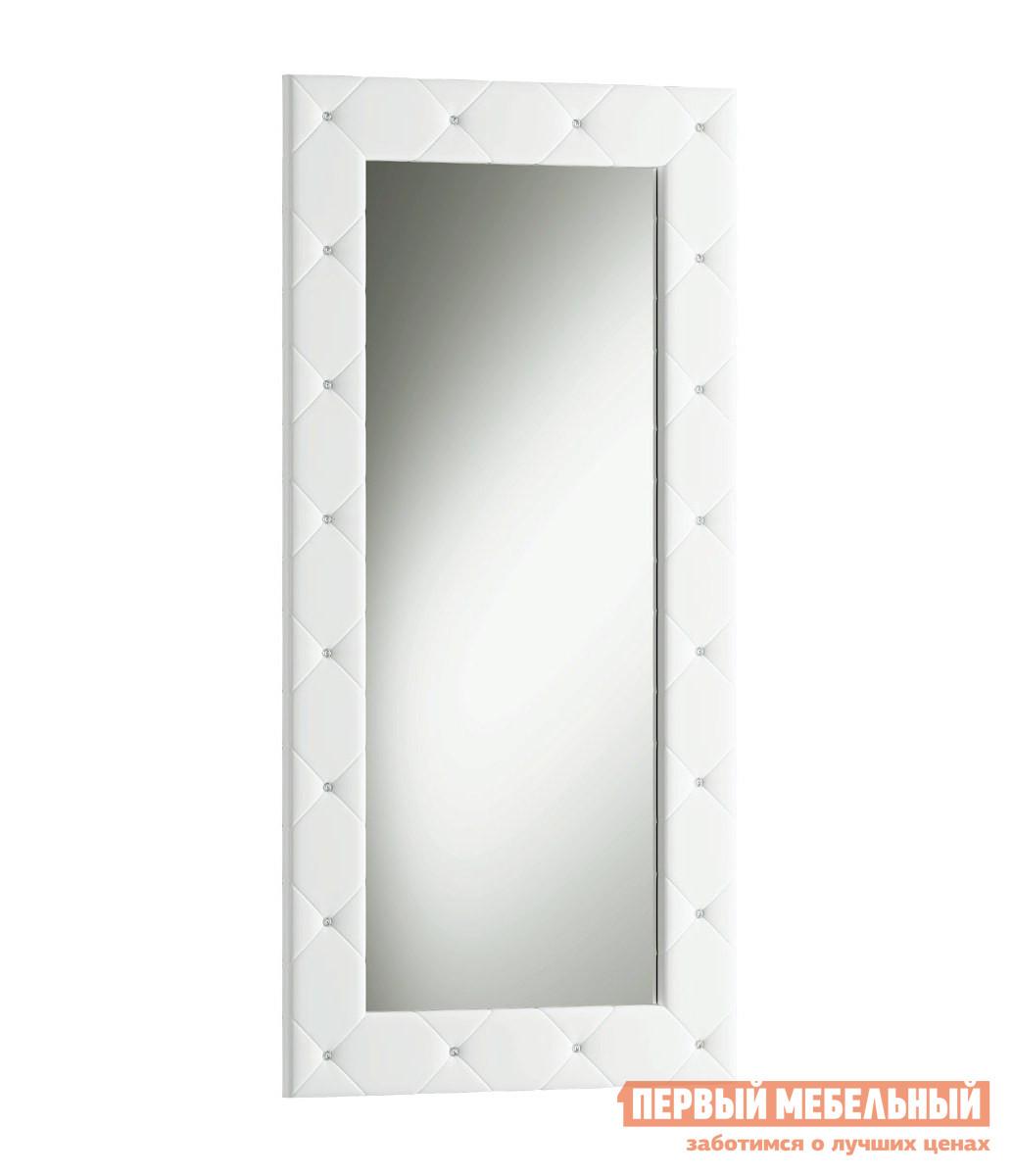 Напольное зеркало ОГОГО Обстановочка! Зеркало Kristal Экокожа белаяНапольные зеркала<br>Габаритные размеры ВхШхГ 1970x940x45 мм. Шикарное напольное зеркало в раме декорированной экокожей с переливающимися стразами Swarovski.  Выбор настоящих королевских особ.  Ваше отражение в нём сразу же примет благородную осанку и величественный вид. Для предотвращения падения зеркала нижняя кромка оснащена подпятниками, а на задней стенке есть специальные навесы для крепления к стене. Корпус изготовлен из ЛДСП, рама — МДФ, обитая экокожей. Обратите внимание! Зеркало поставляется в собранном виде, в стоимость сборки включено крепление верхней части к стене для лучшей устойчивости.<br><br>Цвет: Экокожа белая<br>Цвет: Белый<br>Высота мм: 1970<br>Ширина мм: 940<br>Глубина мм: 45<br>Форма поставки: В собранном виде<br>Срок гарантии: 2 года<br>Тип: Простые<br>Назначение: Для спальни, В прихожую<br>Материал: Деревянные, из ЛДСП, из МДФ<br>Форма: Прямоугольные<br>Особенности: В полный рост<br>Тип рамы: В раме