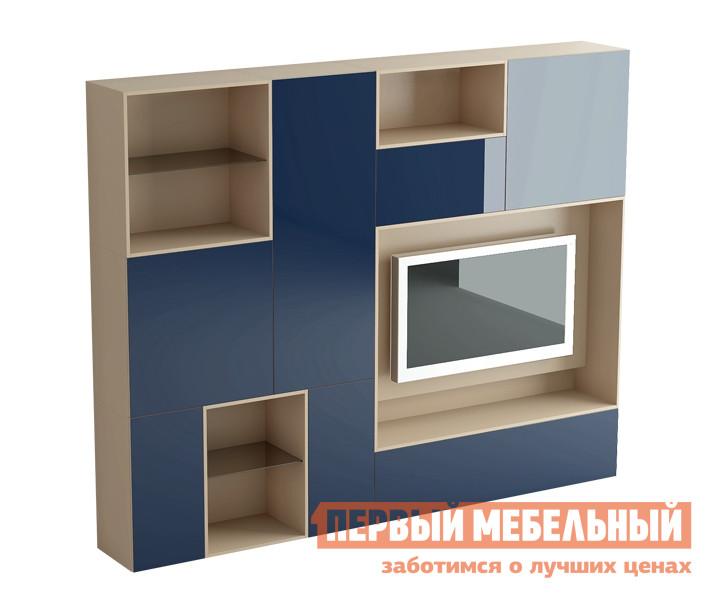 Стенка ОГОГО Обстановочка! Даймонд К1 (ДШ2+ДШ3) Темный комплект детской мебели огого обстановочка рейна д к1