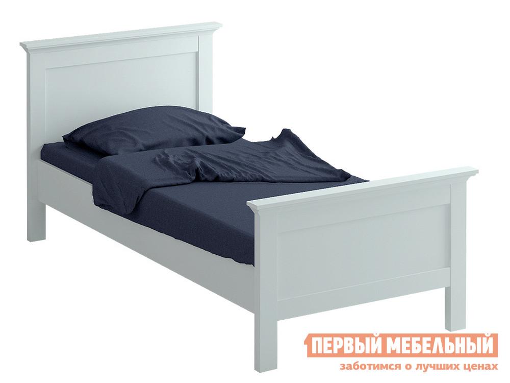 Односпальная кровать  reinawh-k900 / k1200 Белый, Спальное место 900 Х 2000 мм