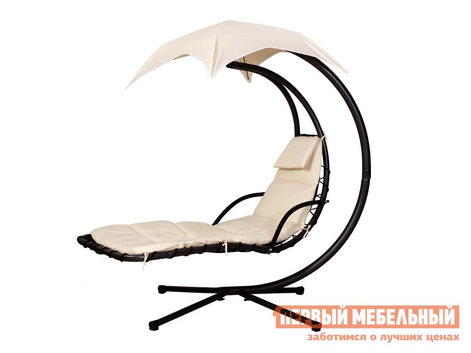 Подвесное кресло ОГОГО Обстановочка! Sunshine Ткань Бежевая / Каркас ЧерныйПодвесные кресла<br>Габаритные размеры ВхШхГ 1940x1920x1060 мм. Объединив два самых «расслабляющих» предмета мебели — подвесное кресло и шезлонг — мы получаем восхитительные качели-шезлонг Sunshine.  Покачиваясь полулежа в прохладной тени зонтика вы ощутите как улучшается настроение и проблемы отходят на второй план. Шезлонг имеет плавный изгиб, оборудован подлокотниками и дополнен матрасом размером 760х1900 мм с подушкой-подголовником.  И матрас и зонтик снимаются при необходимости.  Основа сиденья выполнена из текстилена, а обивка матраса и ткань зонта — полиэстер. Каркас из стали с порошковым покрытием обеспечивает устойчивость конструкции.  Кресло отлично подходит для использования на улице.<br><br>Цвет: Черный<br>Цвет: Бежевый<br>Высота мм: 1940<br>Ширина мм: 1920<br>Глубина мм: 1060<br>Форма поставки: В разобранном виде<br>Срок гарантии: 2 года<br>Тип: Подвесные<br>Тип: С матрасом<br>Тип: Кресла-шезлонги<br>Назначение: Для дачи<br>Назначение: Пляжные<br>Назначение: Для сада<br>Материал: Металл<br>Материал: Ткань<br>Размер: Одноместные<br>Со стойкой: Да<br>С подголовником: Да<br>С подушкой: Да<br>С зонтиком: Да<br>Со спинкой: Да