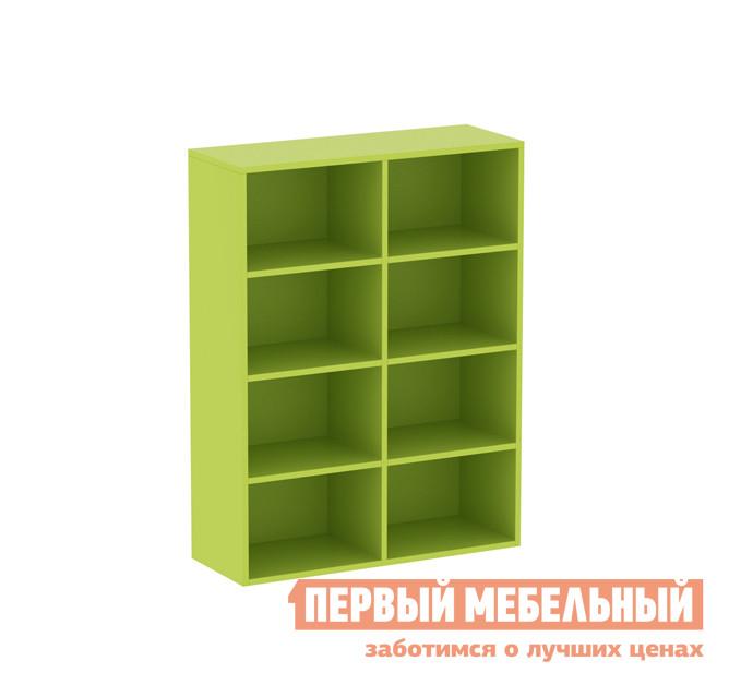 Низкий детский стеллаж для игрушек и книг ОГОГО Обстановочка! Пиноккио П-ПДс Лайм