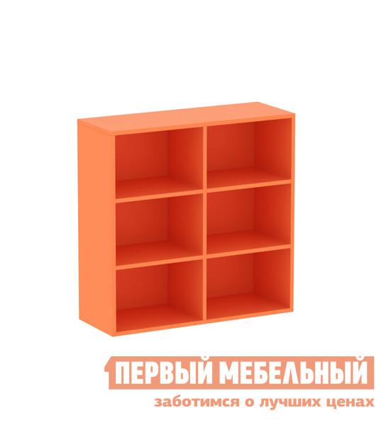 Низкий стеллаж для игрушек в детскую комнату ОГОГО Обстановочка! Пиноккио П-ПДн Манго