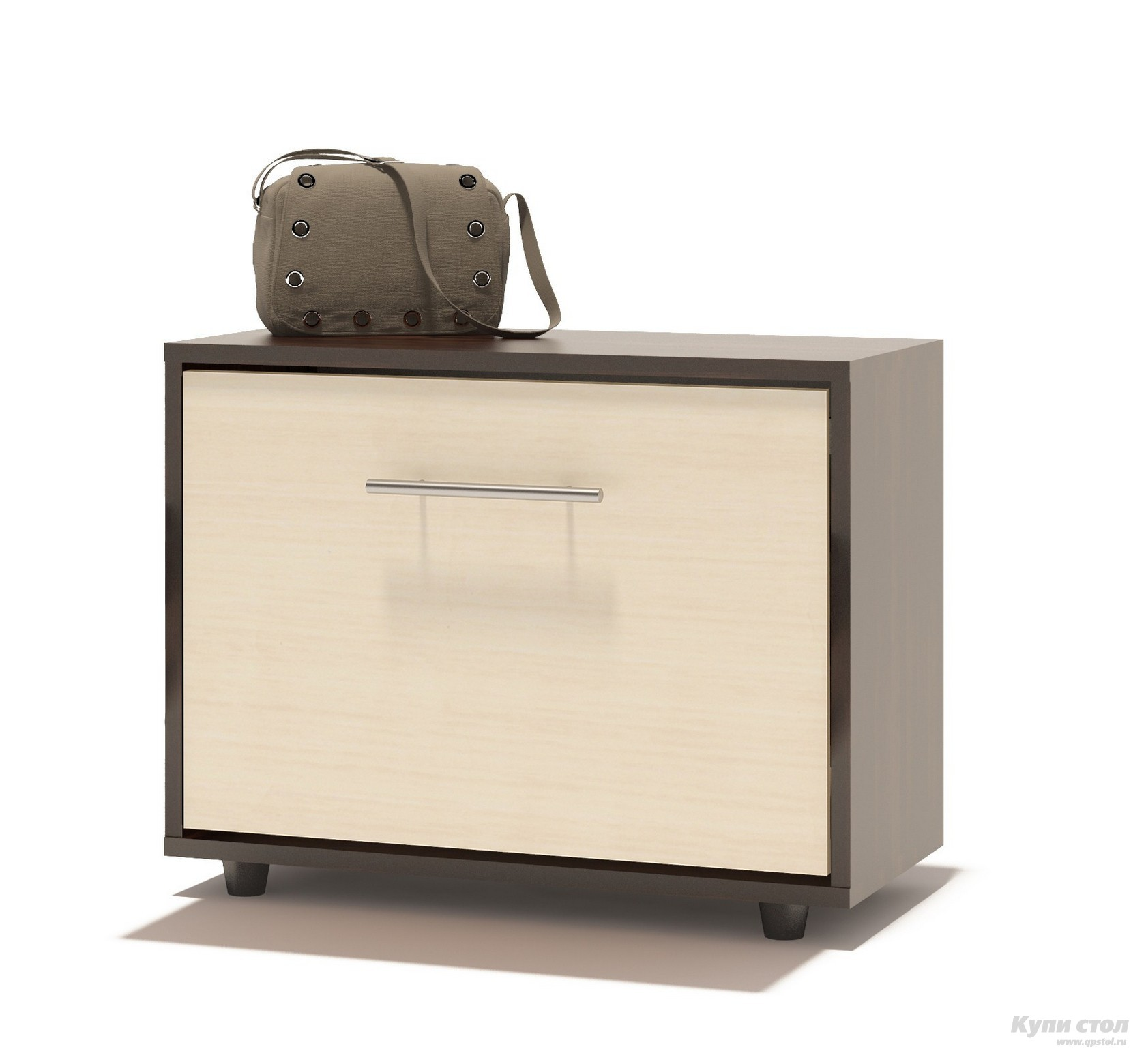 Обувница Сокол ТП-1 Корпус Венге / Фасад Беленый дубОбувницы<br>Габаритные размеры ВхШхГ 482x600x287 мм. Компактная тумба для обуви, шириной 600 мм.  Дверь оснащена откидывающимся механизмом со специальными полками для размещения обуви, который обеспечивает удобство хранения и легкий доступ к необходимой паре кроссовок или туфель. Изделие поставляется в разобранном виде.  Хорошо упаковано в гофротару вместе с необходимой фурнитурой для сборки и подробной инструкцией.   Изготовлена из высококачественной ДСП 16мм  Отделывается кромкой ПВХ 0. 4мм Рекомендуем сохранить инструкцию по сборке (паспорт изделия) до истечения гарантийного срока.<br><br>Цвет: Корпус Венге / Фасад Беленый дуб<br>Цвет: Темное-cветлое дерево<br>Высота мм: 482<br>Ширина мм: 600<br>Глубина мм: 287<br>Кол-во упаковок: 1<br>Форма поставки: В разобранном виде<br>Срок гарантии: 2 года<br>Глубина: Неглубокие