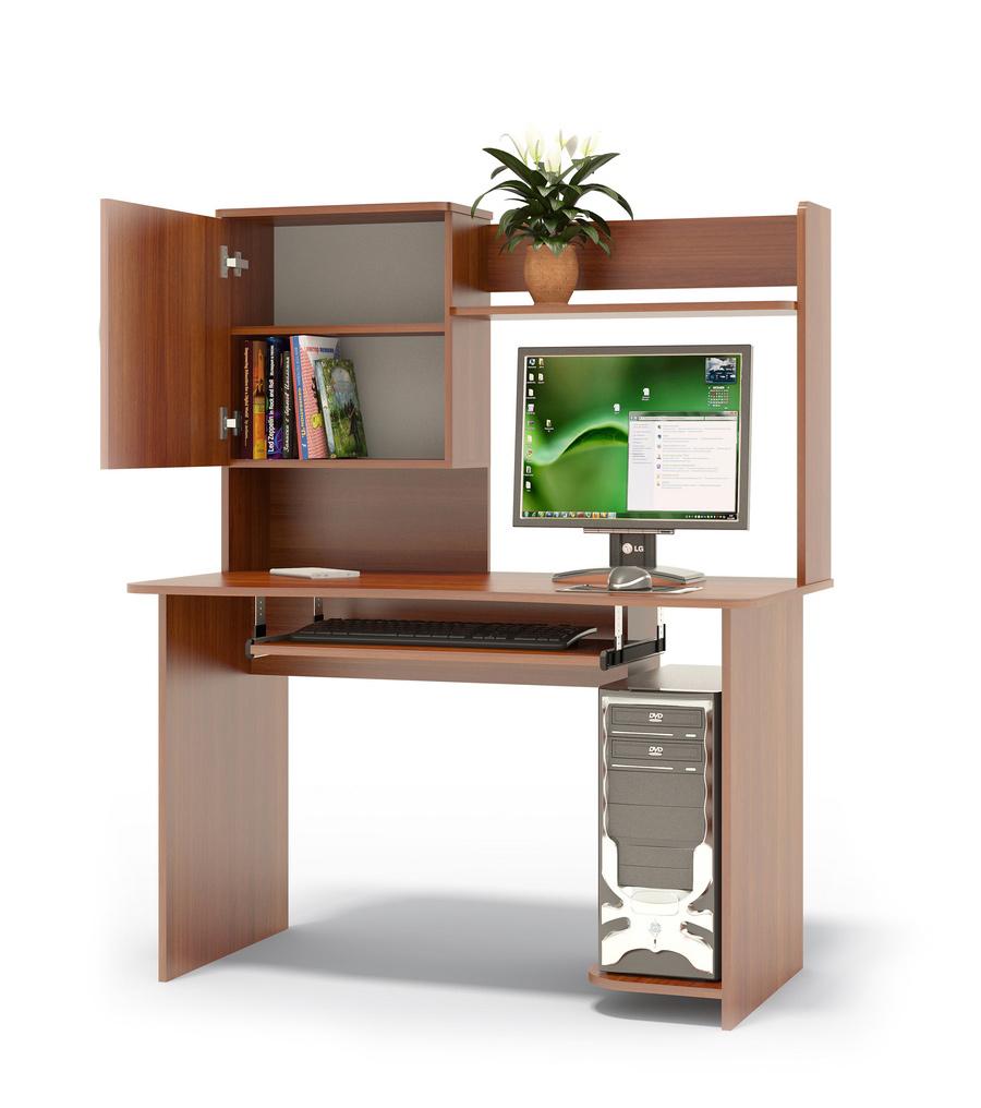 """Компьютерный стол Сокол КСТ-04.1+КН-24 Испанский орехКомпьютерные столы<br>Габаритные размеры ВхШхГ 1444x1200x600 мм. Компьютерный стол с вместительной надстройкой.  Стол может быть правым или левым (определяется по расположению системного блока).  На картинке представлен правый стол.  Такой стол подойдет как для учебы, так и для работы. Надстройка к столу оснащена полками, шкафчиком с полочками для книг.  Размер надстройки — 704 х 1200 х 256 мм. Стол оборудован полочкой для клавиатуры — 650 х 356 мм. Проем под монитор — 442 х 688 мм (под монитор 20""""). Изделие поставляется в разобранном виде.  Хорошо упаковано в гофротару вместе с необходимой фурнитурой для сборки и подробной инструкцией.  Рекомендуем сохранить инструкцию по сборке (паспорт изделия) до истечения гарантийного срока.<br><br>Цвет: Красное дерево<br>Высота мм: 1444<br>Ширина мм: 1200<br>Глубина мм: 600<br>Кол-во упаковок: 2<br>Форма поставки: В разобранном виде<br>Срок гарантии: 2 года<br>Тип: Прямые<br>Материал: Дерево<br>Материал: ЛДСП<br>Размер: Большие<br>Размер: Ширина 120 см<br>С надстройкой: Да<br>С полками: Да<br>Стиль: Современный<br>Стиль: Модерн"""