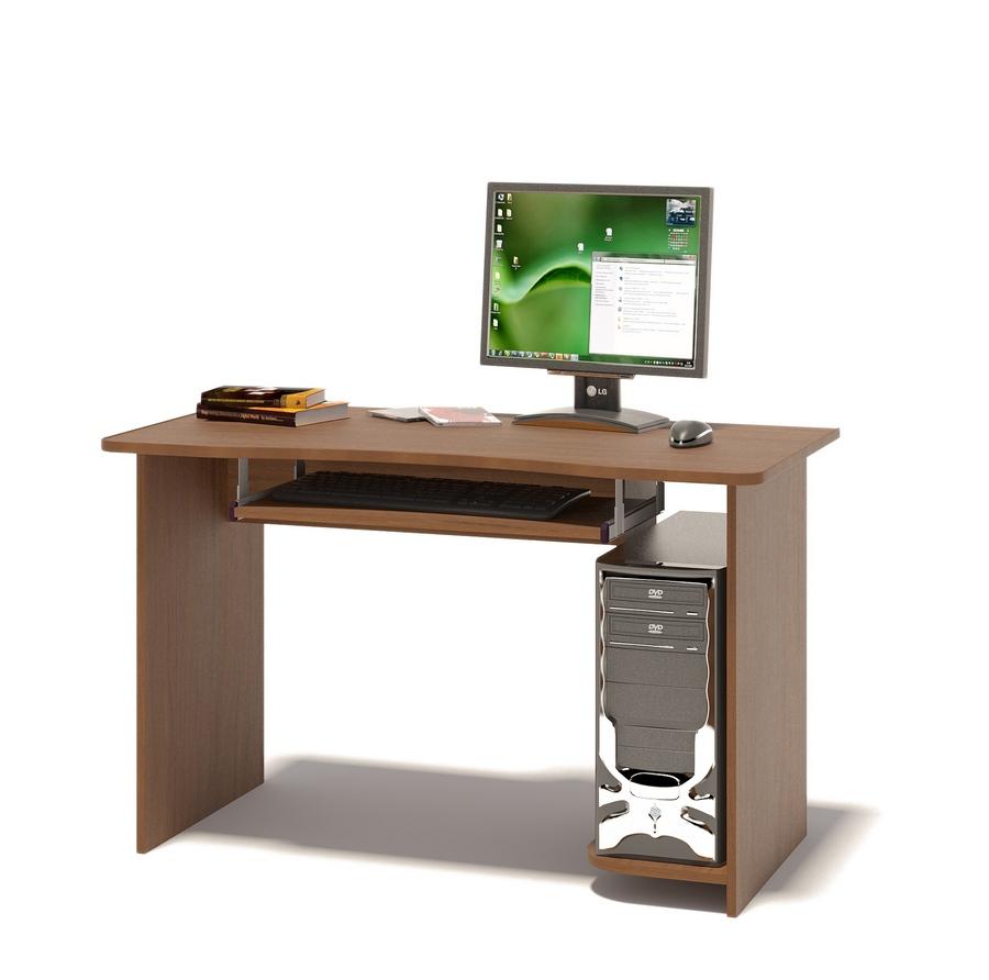 Компьютерный стол Сокол КСТ-04.1 Ноче-эккоКомпьютерные столы<br>Габаритные размеры ВхШхГ 740x1200x600 мм. Вместительный компьютерный стол подходит как для учебы, так и для работы.  Размер столешницы позволяет разместить не только монитор, но и оставить место для занятий школьника или студента.  стол оборудован выкатной полочкой для клавиатуры (650 х 356 мм), а также полкой под системный блок.  Обратите внимание! Стол универсальный по сборке: полка под системный блок может располагаться как справа, так и слева. Изделие поставляется в разобранном виде.  Хорошо упаковано в гофротару вместе с необходимой фурнитурой для сборки и подробной инструкцией.  Рекомендуем сохранить инструкцию по сборке (паспорт изделия) до истечения гарантийного срока.<br><br>Цвет: Ноче-экко<br>Цвет: Коричневое дерево<br>Высота мм: 740<br>Ширина мм: 1200<br>Глубина мм: 600<br>Кол-во упаковок: 1<br>Форма поставки: В разобранном виде<br>Срок гарантии: 2 года<br>Тип: Прямые<br>Материал: Деревянные, из ЛДСП<br>Размер: Большие, Шириной 120 см<br>Особенности: Без надстройки<br>Стиль: Современный, Модерн