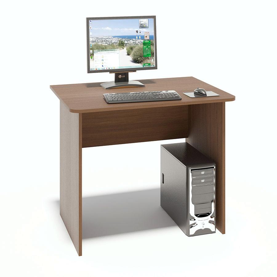 Письменный стол Сокол СПМ-01.1 Ноче-эккоПисьменные столы<br>Габаритные размеры ВхШхГ 740x900x600 мм. Компактный классический стол  шириной 900 мм прекрасно подойдет для работы как дома, так и в офисе.  Его небольшие размеры позволяют не только сэкономить пространство в помещении, но и организовать полноценное рабочее место.  Края столешницы скруглены, что немаловажно, особенно в комнате ребенка.   Стол изготовлен из высококачественной ламинированной ДСП российского производства толщиной 16 мм, торцы деталей отделаны кромкой ПВХ 2 мм.  Изделие поставляется в разобранном виде.  Хорошо упаковано в гофротару вместе с необходимой фурнитурой и подробной инструкцией по сборке.  Рекомендуем сохранить инструкцию по сборке (паспорт изделия) до истечения гарантийного срока.<br><br>Цвет: Ноче-экко<br>Цвет: Коричневое дерево<br>Высота мм: 740<br>Ширина мм: 900<br>Глубина мм: 600<br>Кол-во упаковок: 1<br>Форма поставки: В разобранном виде<br>Срок гарантии: 2 года<br>Тип: Прямые<br>Материал: Деревянные, из ЛДСП<br>Размер: Маленькие, Шириной 90 см<br>Особенности: Без надстройки<br>Стиль: Современный, Модерн