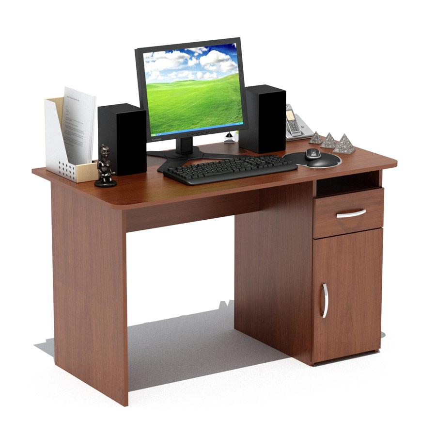 Письменный стол Сокол СПМ-03.1 Испанский орехПисьменные столы<br>Габаритные размеры ВхШхГ 740x1200x600 мм. Классический  письменный стол шириной  1200 мм со встроенной тумбой.  Просторная столешница позволит удобно расположиться за столом и работать с большим объемом документов.  Тумба оснащена  открытой нишей, выдвижным  ящиком и закрытой полкой. Внутренний размер ящика составляет 382 х 223 мм, что позволит разместить в нем документы формата А4, канцелярские принадлежности и необходимые мелочи. Стол универсален при сборке (вы можете расположить тумбу как справа, так и слева). Стол изготовлен из высококачественного ламинированного ДСП  российского производства толщиной 16 мм, края столешницы скруглены и отделаны противоударным кантом ПВХ.  Изделие поставляется в разобранном виде.  Хорошо упаковано в гофротару вместе с необходимой фурнитурой и подробной инструкцией по сборке.  Простой строгий стол прекрасно впишется в интерьер комнаты или офиса.  Рекомендуем сохранить инструкцию по сборке (паспорт изделия) до истечения гарантийного срока.<br><br>Цвет: Испанский орех<br>Цвет: Красное дерево<br>Высота мм: 740<br>Ширина мм: 1200<br>Глубина мм: 600<br>Кол-во упаковок: 1<br>Форма поставки: В разобранном виде<br>Срок гарантии: 2 года<br>Тип: Прямые<br>Материал: Деревянные, из ЛДСП<br>Размер: Большие, Шириной 120 см<br>Особенности: С ящиками, Без надстройки, С тумбой<br>Стиль: Современный, Модерн