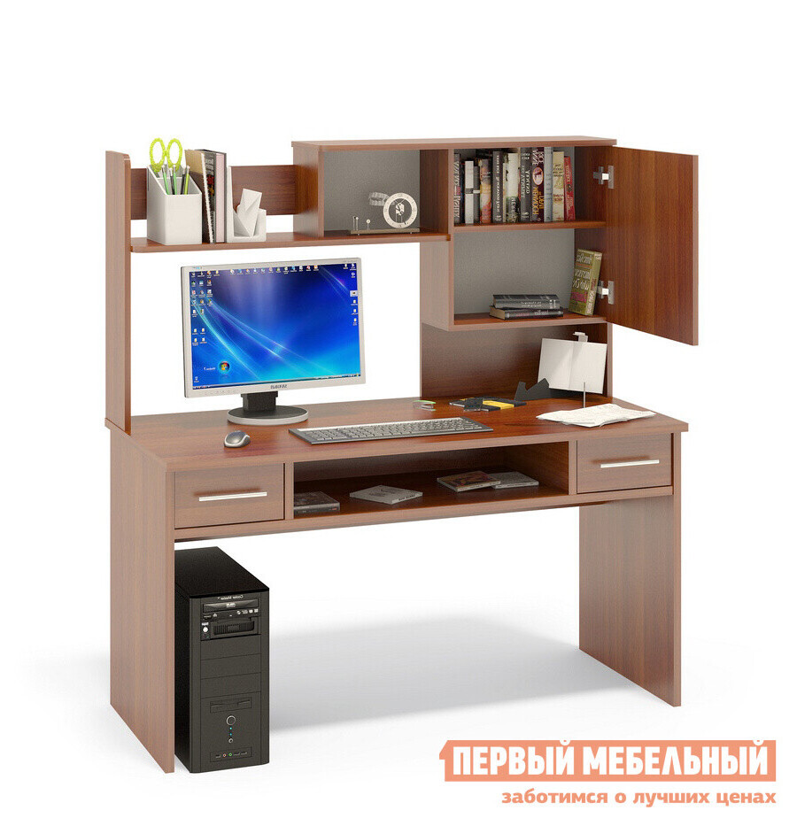 Письменный стол орвилл кст-108 + кн-14 сокол купить в москве.