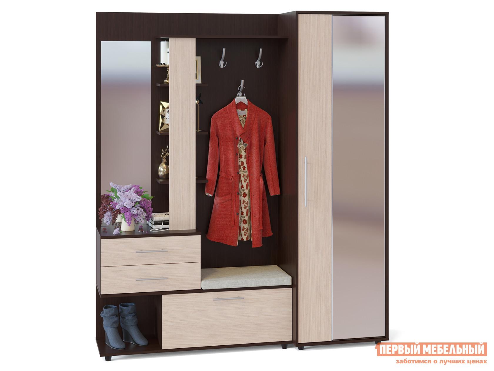 Прихожая в коридор Сокол ВШ-11 + ШО-2 шкаф для одежды сокол шо 1 испанский орех