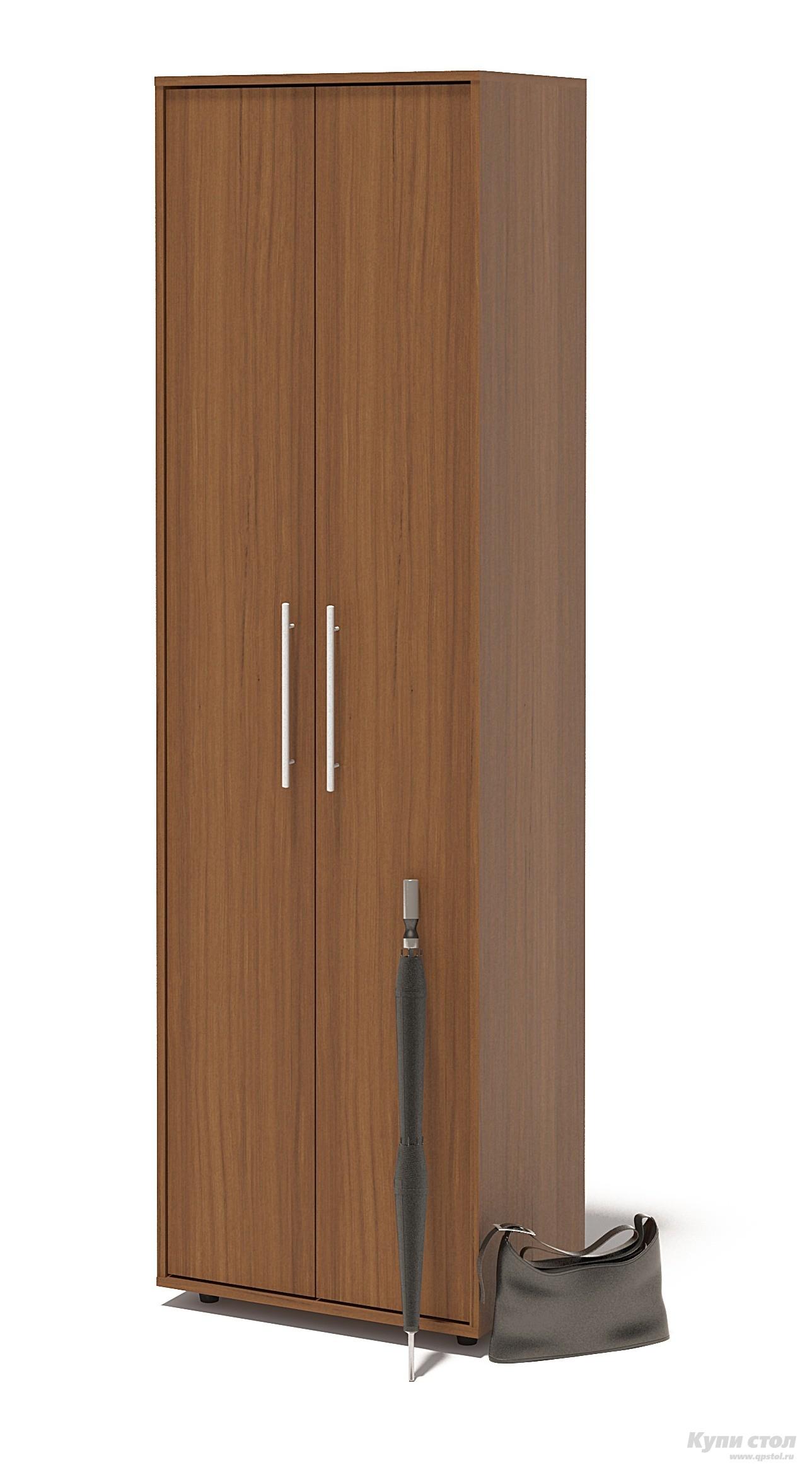 Шкаф распашной Сокол ШО-1 Ноче-эккоШкафы распашные<br>Габаритные размеры ВхШхГ 2087x600x429 мм. Шкаф для одежды, шириной 600 мм.  Шкаф оборудован двустворчатыми дверями.  Внутри шкафа расположены две полки и выдвижная вешалка.  Изделие поставляется в разобранном виде.  Хорошо упаковано в гофротару вместе с необходимой фурнитурой для сборки и подробной инструкцией.   Изготовлена из высококачественной ЛДСП 16мм  Отделывается кромкой ПВХ 0. 4мм Рекомендуем сохранить инструкцию по сборке (паспорт изделия) до истечения гарантийного срока.<br><br>Цвет: Ноче-экко<br>Цвет: Коричневое дерево<br>Высота мм: 2087<br>Ширина мм: 600<br>Глубина мм: 429<br>Кол-во упаковок: 1<br>Форма поставки: В разобранном виде<br>Срок гарантии: 2 года