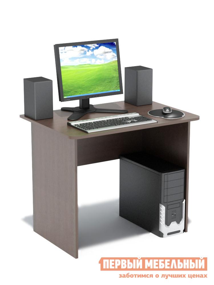 Письменный стол Сокол СПМ-01.1 ВенгеПисьменные столы<br>Габаритные размеры ВхШхГ 740x900x600 мм. Компактный классический стол  шириной 900 мм прекрасно подойдет для работы как дома, так и в офисе.  Его небольшие размеры позволяют не только сэкономить пространство в помещении, но и организовать полноценное рабочее место.  Края столешницы скруглены, что немаловажно, особенно в комнате ребенка. Стол изготовлен из высококачественной ламинированной ДСП российского производства толщиной 16 мм, торцы деталей отделаны кромкой ПВХ 2 мм.  Изделие поставляется в разобранном виде.  Хорошо упаковано в гофротару вместе с необходимой фурнитурой и подробной инструкцией по сборке.  Рекомендуем сохранить инструкцию по сборке (паспорт изделия) до истечения гарантийного срока.<br><br>Цвет: Венге<br>Цвет: Венге<br>Высота мм: 740<br>Ширина мм: 900<br>Глубина мм: 600<br>Кол-во упаковок: 1<br>Форма поставки: В разобранном виде<br>Срок гарантии: 2 года<br>Тип: Прямые<br>Материал: Деревянные, из ЛДСП<br>Размер: Маленькие, Шириной 90 см<br>Особенности: Без надстройки<br>Стиль: Современный, Модерн