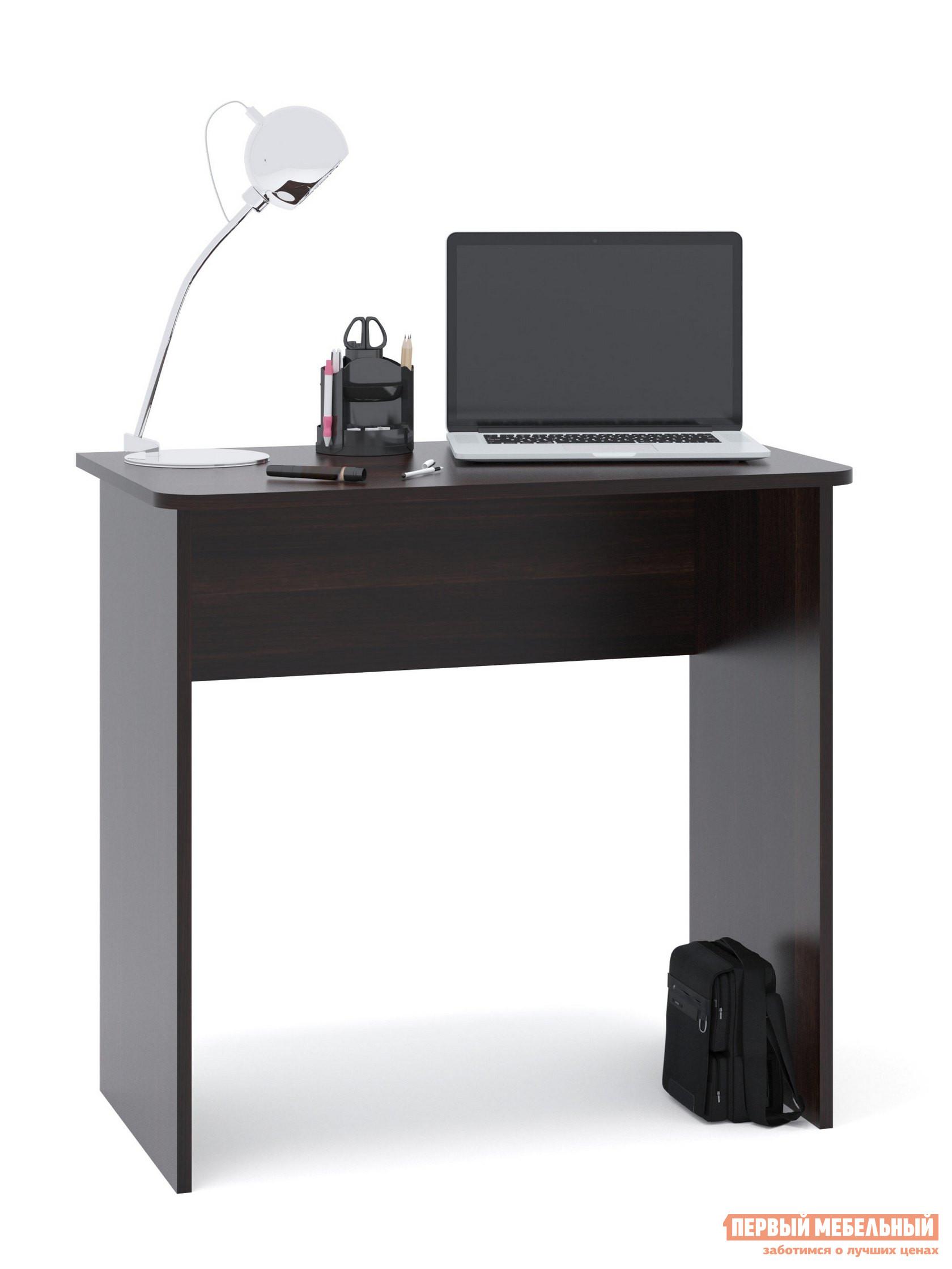 Письменный стол Сокол СПМ-08 ВенгеПисьменные столы<br>Габаритные размеры ВхШхГ 740x800x446 мм. Небольшой письменный стол для работы или учебы.  Стол можно использовать как письменный или компьютерный.  Простая конструкция стола впишется в любой интерьер и не будет его загромождать лишними деталями. Столешница изготовлена из ЛДСП отечественного производства толщиной 16 мм, отделана кромкой ПВХ 2 мм.  Рекомендуем сохранить инструкцию по сборке (паспорт изделия) до истечения гарантийного срока.<br><br>Цвет: Венге<br>Высота мм: 740<br>Ширина мм: 800<br>Глубина мм: 446<br>Кол-во упаковок: 1<br>Форма поставки: В разобранном виде<br>Срок гарантии: 2 года<br>Тип: Прямые<br>Материал: Дерево<br>Материал: ЛДСП<br>Размер: Маленькие<br>Размер: Ширина 80 см<br>Стиль: Современный<br>Стиль: Модерн