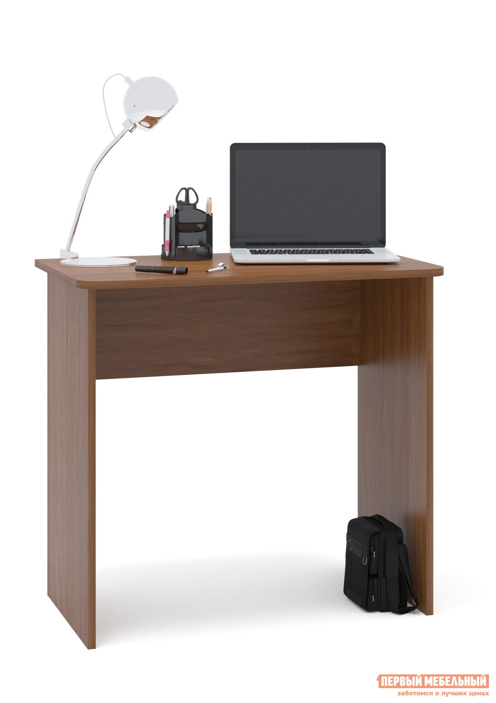 Письменный стол Сокол СПМ-08 Ноче-эккоПисьменные столы<br>Габаритные размеры ВхШхГ 740x800x446 мм. Небольшой письменный стол для работы или учебы.  Стол можно использовать как письменный или компьютерный.  Простая конструкция стола впишется в любой интерьер и не будет его загромождать лишними деталями. Столешница изготовлена из ЛДСП отечественного производства толщиной 16 мм, отделана кромкой ПВХ 2 мм.  Рекомендуем сохранить инструкцию по сборке (паспорт изделия) до истечения гарантийного срока.<br><br>Цвет: Ноче-экко<br>Цвет: Коричневое дерево<br>Высота мм: 740<br>Ширина мм: 800<br>Глубина мм: 446<br>Кол-во упаковок: 1<br>Форма поставки: В разобранном виде<br>Срок гарантии: 2 года<br>Тип: Прямые<br>Материал: Деревянные, из ЛДСП<br>Размер: Маленькие, Шириной 80 см<br>Стиль: Современный, Модерн