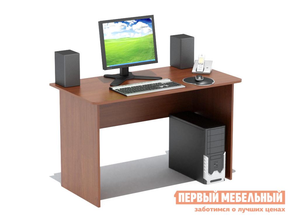 Письменный стол Сокол СПМ-02.1 Испанский орехПисьменные столы<br>Габаритные размеры ВхШхГ 740x1200x600 мм. Традиционный письменный стол шириной 1200мм позволит создать эффективное рабочее место и удобно расположиться за ним  школьнику, студенту, работнику офиса. Стол изготовлен из высококачественной ламинированной ДСП российского производства толщиной 16 мм,  края столешницы скруглены.  Торцы деталей отделаны противоударным кантом ПВХ.  Изделие поставляется в разобранном виде вместе с необходимой фурнитурой и инструкцией по сборке.  Хорошо упаковано в гофротару.   Рекомендуем сохранить инструкцию по сборке (паспорт изделия) до истечения гарантийного срока.<br><br>Цвет: Красное дерево<br>Высота мм: 740<br>Ширина мм: 1200<br>Глубина мм: 600<br>Кол-во упаковок: 1<br>Форма поставки: В разобранном виде<br>Срок гарантии: 2 года<br>Тип: Прямые<br>Материал: Дерево<br>Материал: ЛДСП<br>Размер: Большие<br>Размер: Ширина 120 см<br>Без надстройки: Да<br>Стиль: Современный<br>Стиль: Модерн