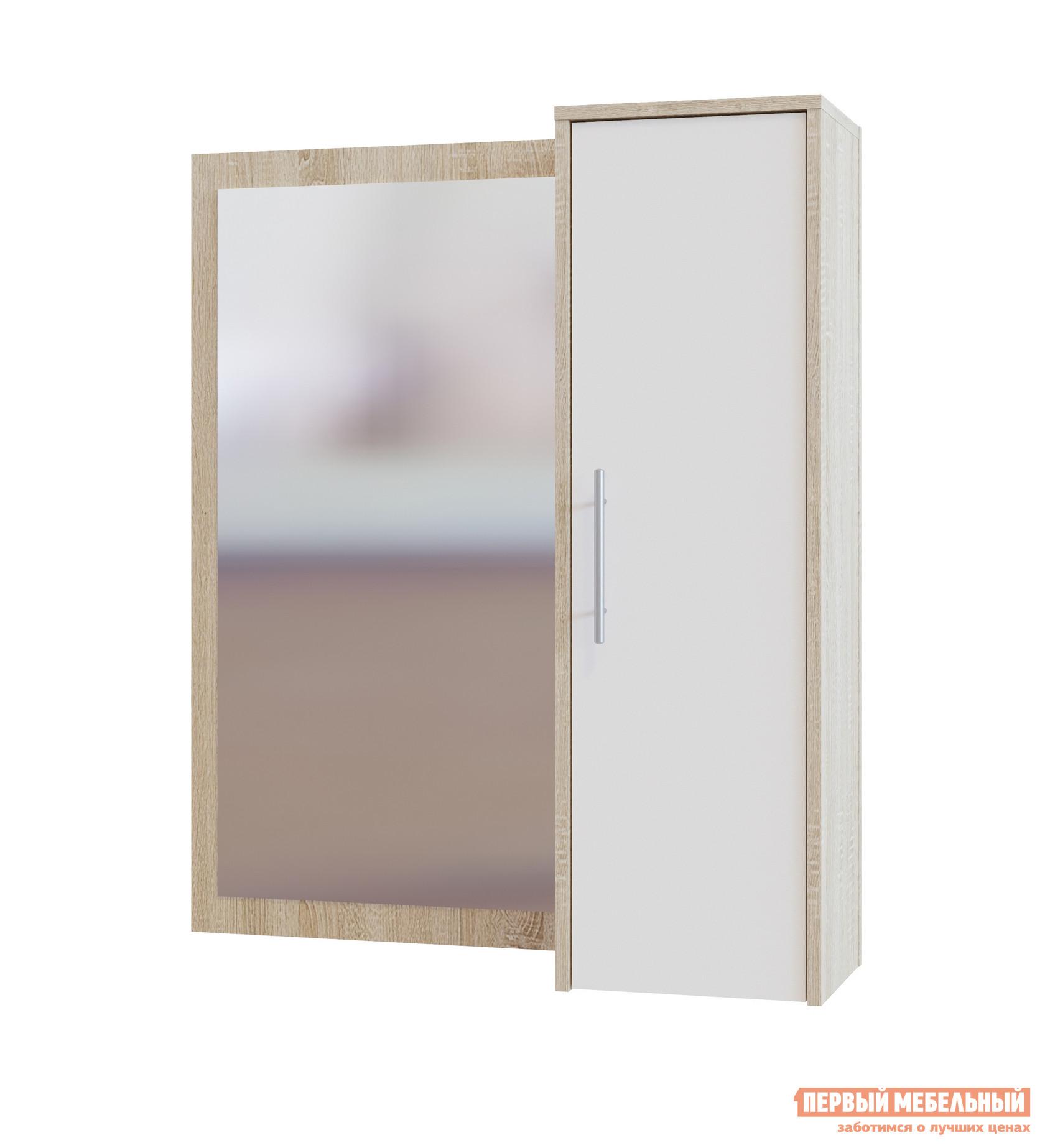 Настенное зеркало Сокол ПЗ-4 Дуб Сонома / Белый