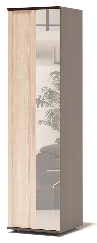 Шкаф-гармошка Сокол Маркес ШГ-206.2 Д Правый, С зеркалом, Корпус Венге / Фасад Беленый дуб