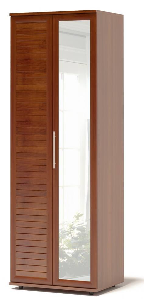 Шкаф-гармошка Сокол Аркадиа ШГ-208.1 Испанский орехШкафы-гармошки<br>Габаритные размеры ВхШхГ 2334x800x580 мм. Шкаф для одежды шириной 800 мм.  Изделие оснащается полками и штангой для одежды.  Фасад выполнен с применением наборной планки, придающей изделию современный вид.  Дверь-гармошка открывается налево. Шкаф выполнен из высококачественного ЛДСП толщиной 22 и 16 мм и оснащен надежной импортной фурнитурой, отлично зарекомендовавшей себя в течение длительной эксплуатации. Кромка на основе ПВХ толщиной 0,4 мм защитит торцы изделий от сколов и повреждений, вызванных неосторожным обращением. Рекомендуем сохранить инструкцию по сборке (паспорт изделия) до истечения гарантийного срока.<br><br>Цвет: Испанский орех<br>Цвет: Красное дерево<br>Высота мм: 2334<br>Ширина мм: 800<br>Глубина мм: 580<br>Кол-во упаковок: 4<br>Форма поставки: В разобранном виде<br>Срок гарантии: 2 года