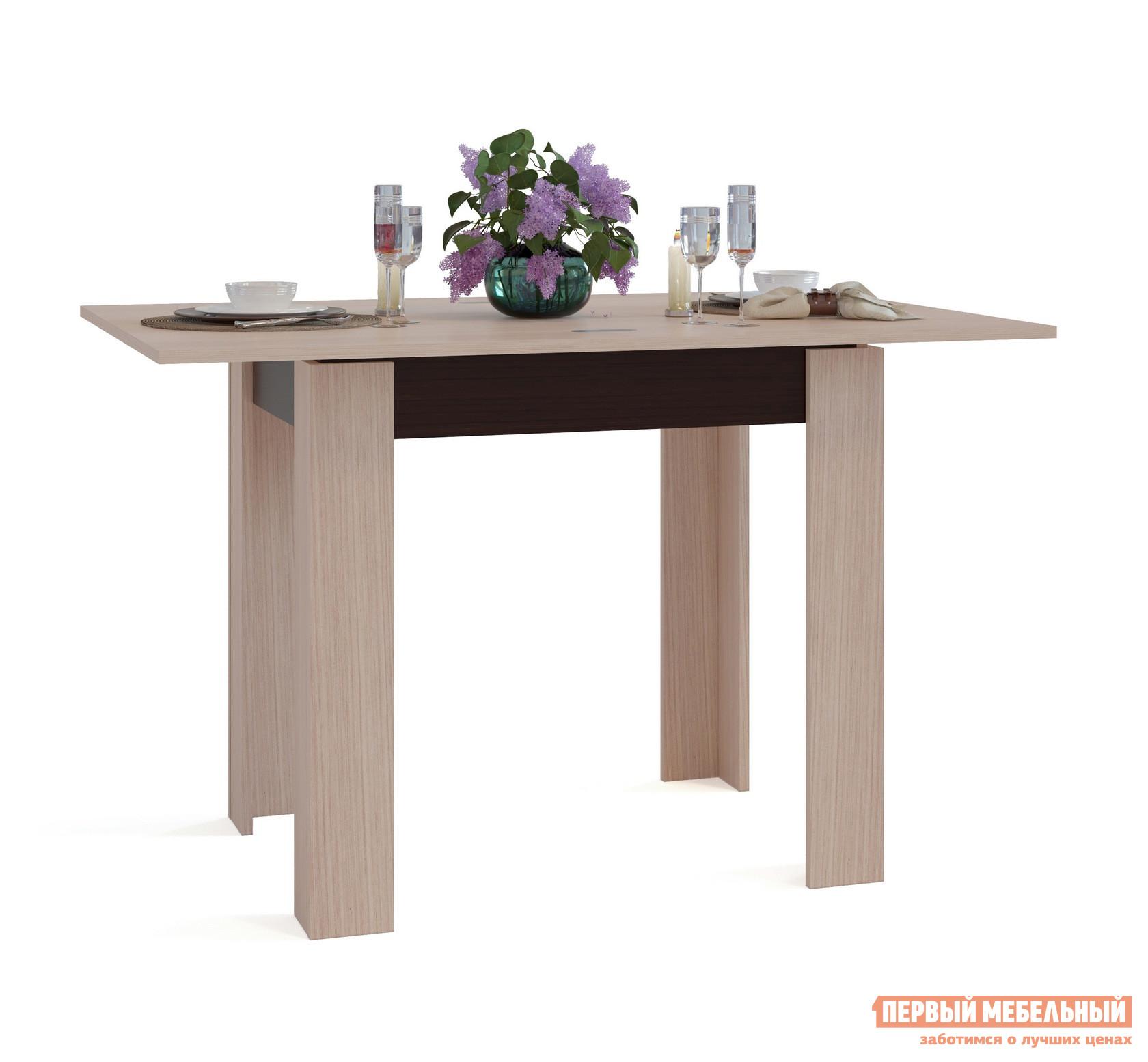 Кухонный стол Сокол СО-1 Подстолье Венге / Столешница, ножки Беленый дуб