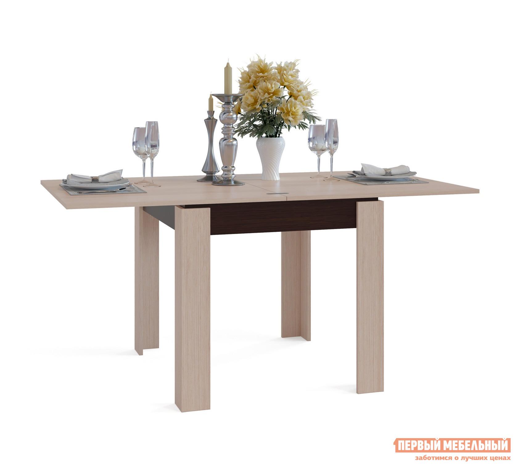Кухонный стол Сокол СО-2 Подстолье Венге / Столешница, ножки Беленый дуб