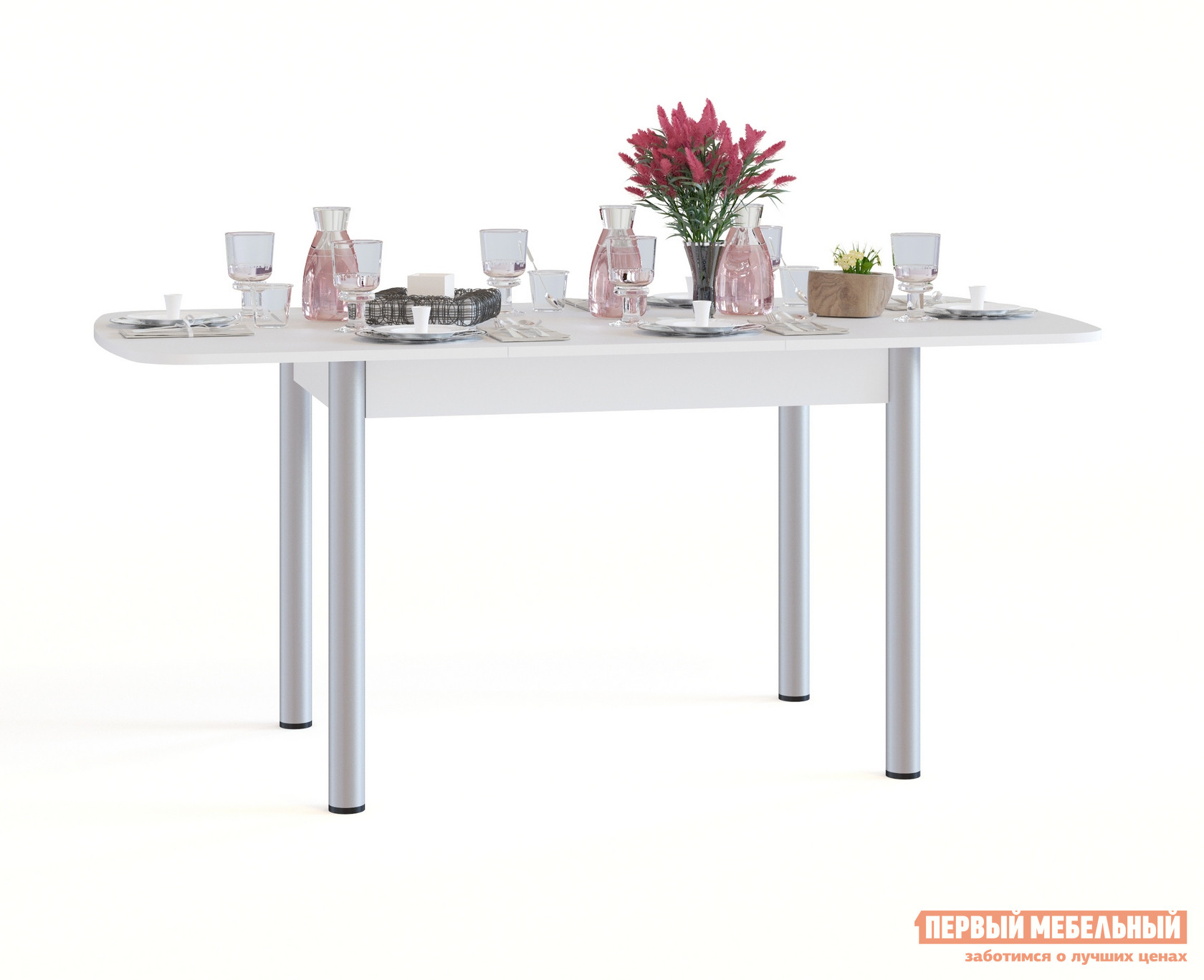 Кухонный стол Сокол СО-3м БелыйКухонные столы<br>Габаритные размеры ВхШхГ 756x1200 / 1646x800 мм. Овальный раскладной обеденный стол на металлических ножках.  Идеальный вариант для кухни как дома, так и на даче.  Модель оборудована раздвижным механизмом «бабочка», благодаря которому, за счет дополнительной вставки размером 446 мм, ширина столешницы увеличивается до 1646 мм.  В сложенном состоянии вставка хранится в столе.  Чтобы разложить стол, нужно раздвинуть столешницу в стороны, достать вставку и раскрыть ее между частями столешницами. Изделие изготавливается из ЛДСП толщиной 16 мм. Столешница обработана кромкой ПВХ толщиной 2 мм, остальные детали в кромке ПВХ 0,4 мм. Рекомендуем сохранить инструкцию по сборке (паспорт изделия) до истечения гарантийного срока.<br><br>Цвет: Белый<br>Высота мм: 756<br>Ширина мм: 1200 / 1646<br>Глубина мм: 800<br>Кол-во упаковок: 1<br>Форма поставки: В разобранном виде<br>Срок гарантии: 2 года<br>Тип: Раздвижные<br>Тип: Трансформер<br>Материал: Дерево<br>Материал: ЛДСП<br>Форма: Овальные<br>Размер: Большие<br>С металлическими ножками: Да