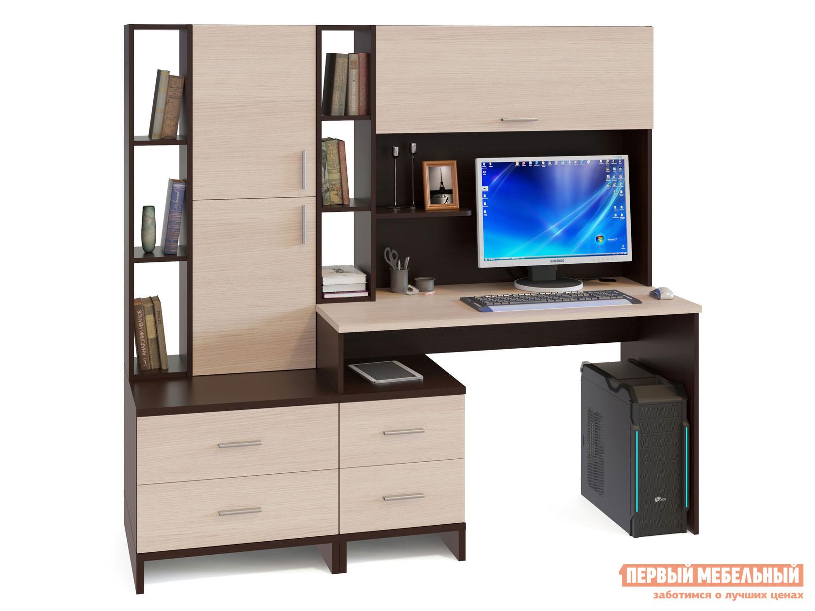 Компьютерный стол со стеллажом Сокол КСТ-114+КН-03+СТ-10