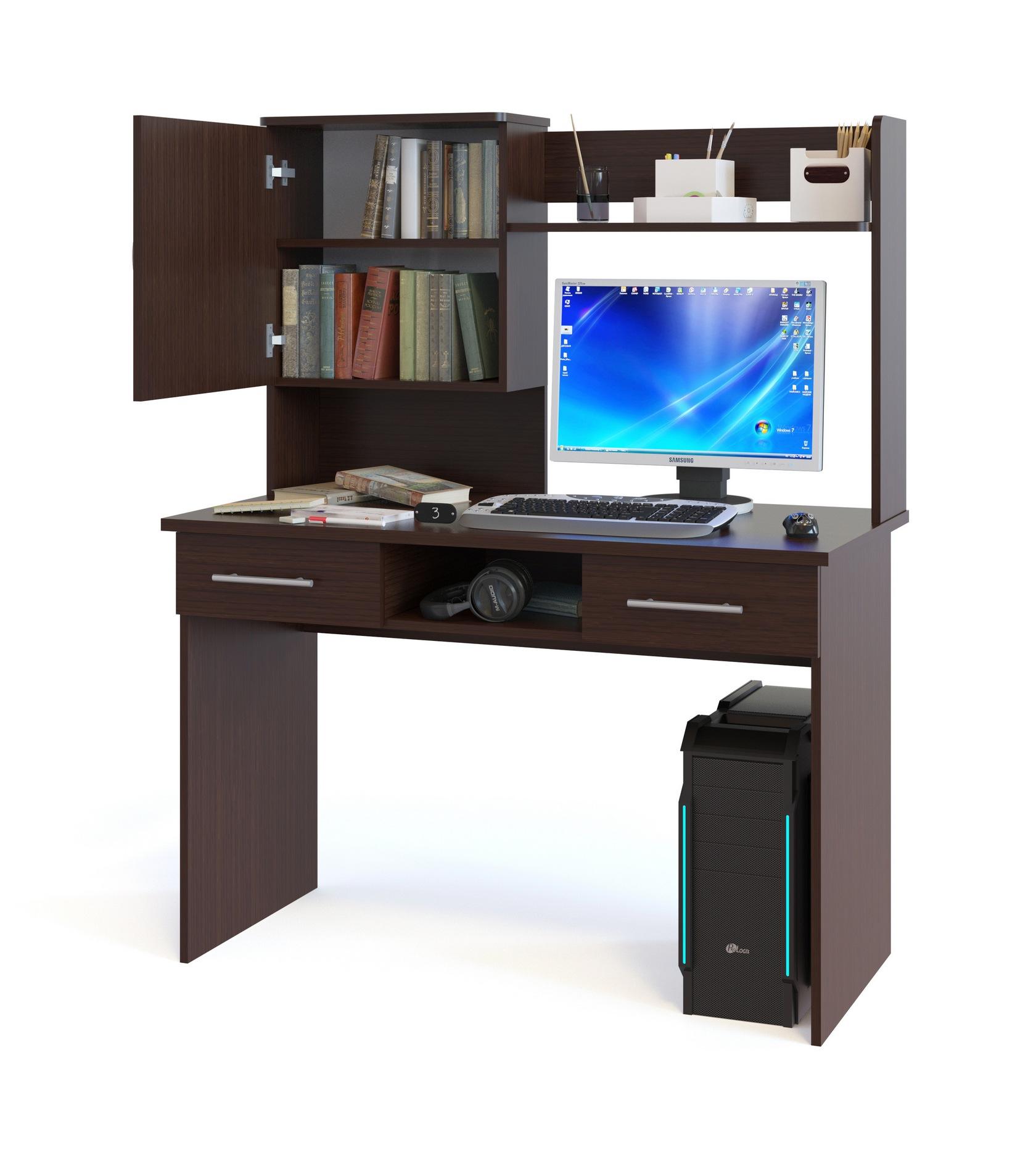 Компьютерный стол Сокол КСТ-107.1+КН-24 компьютерный стол сокол кст 107 1 кн 24 венге