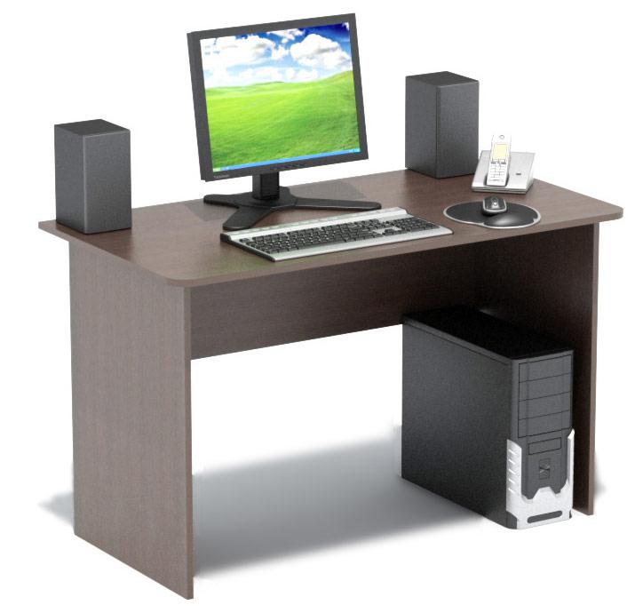 Компьютерный стол Сокол СПМ-02.1В ВенгеКомпьютерные столы<br>Габаритные размеры ВхШхГ 740x1200x600 мм. Традиционный письменный стол шириной 1200мм позволит создать эффективное рабочее место и удобно расположиться за ним  школьнику, студенту, работнику офиса.   Стол изготовлен из высококачественной ламинированной ДСП российского производства толщиной 16мм,  края столешницы скруглены.  Торцы деталей отделаны противоударным кантом ПВХ.  Изделие поставляется в разобранном виде вместе с необходимой фурнитурой и инструкцией по сборке.  Хорошо упаковано в гофротару.    Рекомендуем сохранить инструкцию по сборке (паспорт изделия) до истечения гарантийного срока.<br><br>Цвет: Венге<br>Цвет: Венге<br>Высота мм: 740<br>Ширина мм: 1200<br>Глубина мм: 600<br>Кол-во упаковок: 1<br>Форма поставки: В разобранном виде<br>Срок гарантии: 2 года<br>Тип: Прямые<br>Материал: Деревянные, из ЛДСП<br>Размер: Большие, Шириной 120 см<br>Особенности: Без надстройки<br>Стиль: Современный, Модерн