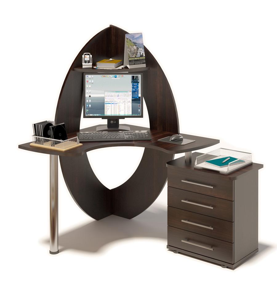Компьютерный стол Сокол КСТ-101 + КТ-102 Правый, Венге от Купистол