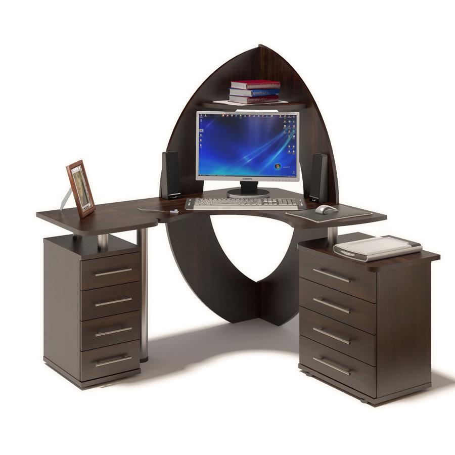 Компьютерный стол Сокол КСТ-101 + КТ-101.1 + КТ-102 Правый,Венге