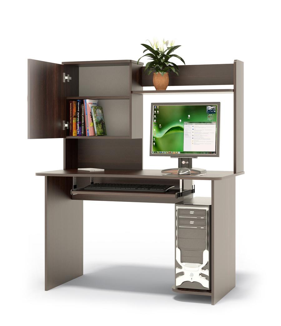 """Компьютерный стол Сокол КСТ-04.1В+КН-24В ВенгеКомпьютерные столы<br>Габаритные размеры ВхШхГ 1444x1200x630 мм. Компьютерный стол с вместительной надстройкой.  Стол может быть правым или левым (определяется по расположению системного блока).  На картинке представлен правый стол.  Такой стол подойдет как для учебы, так и для работы. Надстройка к столу оснащена полками, шкафчиком с полочками для книг.  Размер надстройки — 704 х 1200 х 256 мм. Стол оборудован полочкой для клавиатуры — 650 х 356 мм. Проем под монитор — 442 х 688 мм (под монитор 20""""). Изделие поставляется в разобранном виде.  Хорошо упаковано в гофротару вместе с необходимой фурнитурой для сборки и подробной инструкцией.  Рекомендуем сохранить инструкцию по сборке (паспорт изделия) до истечения гарантийного срока.<br><br>Цвет: Венге<br>Высота мм: 1444<br>Ширина мм: 1200<br>Глубина мм: 630<br>Кол-во упаковок: 2<br>Форма поставки: В разобранном виде<br>Срок гарантии: 2 года<br>Тип: Прямые<br>Материал: Дерево<br>Материал: ЛДСП<br>Размер: Большие<br>Размер: Ширина 120 см<br>С надстройкой: Да<br>С полками: Да"""