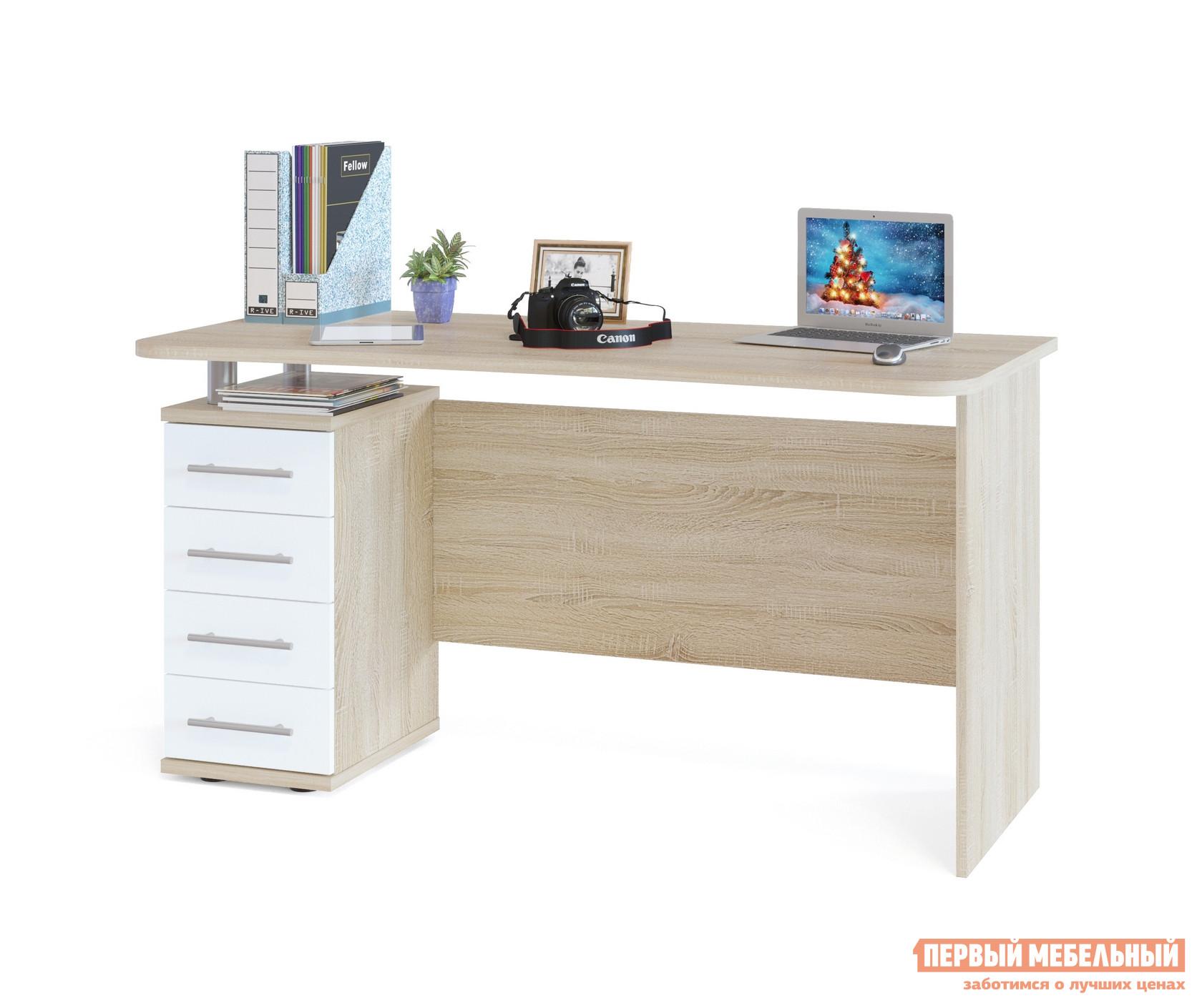 Компьютерный стол Сокол КСТ-105.1 Корпус Венге / Фасад Беленый дуб