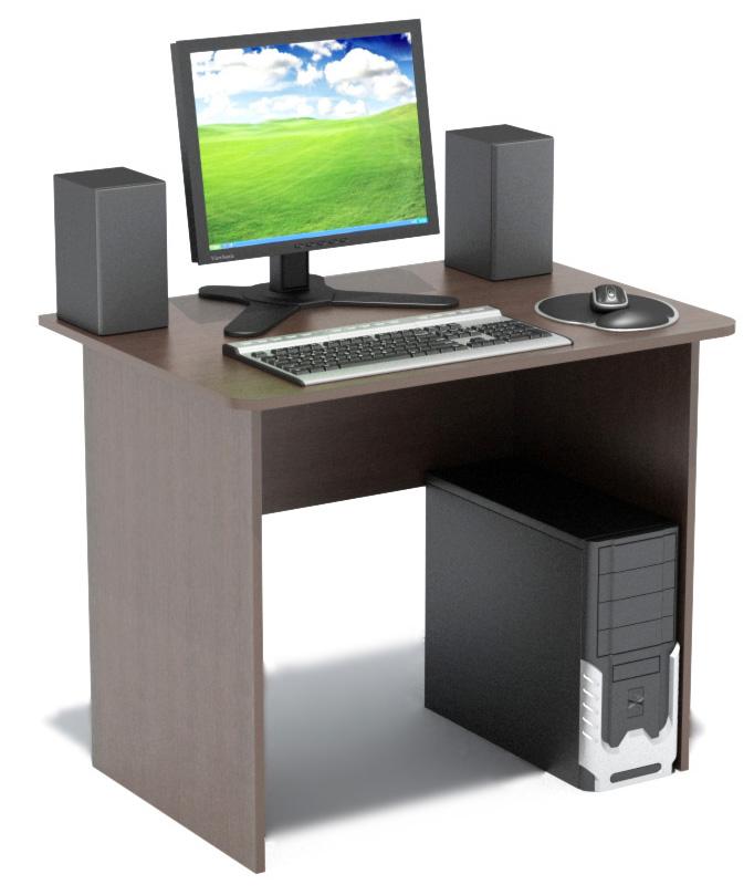 Компьютерный стол Сокол СПМ-01.1В ВенгеКомпьютерные столы<br>Габаритные размеры ВхШхГ 740x900x600 мм. Компактный классический стол  шириной 900мм прекрасно подойдет для работы как дома, так и в офисе.  Его небольшие размеры позволяют не только сэкономить пространство в помещении, но и организовать полноценное рабочее место.  Края столешницы скруглены, что немаловажно, особенно в комнате ребенка.   Стол изготовлен из высококачественной ламинированной ДСП российского производства толщиной 16мм, торцы деталей отделаны кромкой ПВХ 2 мм.  Изделие поставляется в разобранном виде.  Хорошо упаковано в гофротару вместе с необходимой фурнитурой и подробной инструкцией по сборке.   Рекомендуем сохранить инструкцию по сборке (паспорт изделия) до истечения гарантийного срока.<br><br>Цвет: Венге<br>Цвет: Венге<br>Высота мм: 740<br>Ширина мм: 900<br>Глубина мм: 600<br>Кол-во упаковок: 1<br>Форма поставки: В разобранном виде<br>Срок гарантии: 2 года<br>Тип: Прямые<br>Материал: Деревянные, из ЛДСП<br>Размер: Маленькие, Шириной 90 см<br>Особенности: Без надстройки<br>Стиль: Современный, Модерн