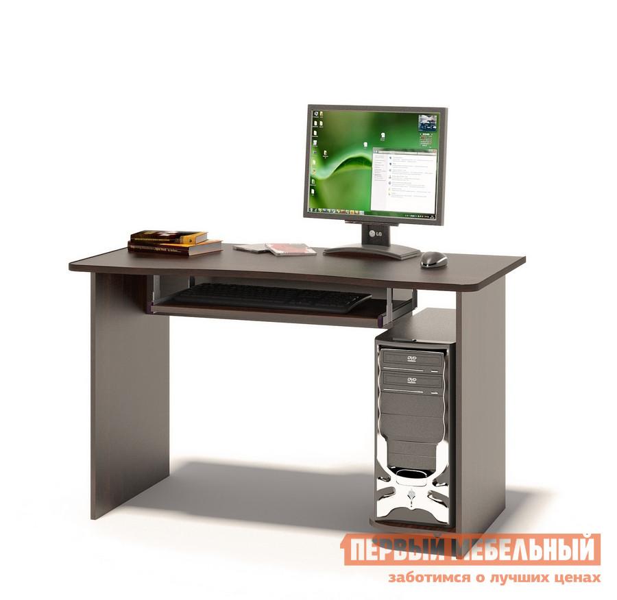 Компьютерный стол Сокол КСТ-04.1 ВенгеКомпьютерные столы<br>Габаритные размеры ВхШхГ 740x1200x600 мм. Вместительный компьютерный стол подходит как для учебы, так и для работы.  Размер столешницы позволяет разместить не только монитор, но и оставить место для занятий школьника или студента.  стол оборудован выкатной полочкой для клавиатуры (650 х 356 мм), а также полкой под системный блок.  Обратите внимание! Стол универсальный по сборке: полка под системный блок может располагаться как справа, так и слева. Изделие поставляется в разобранном виде.  Хорошо упаковано в гофротару вместе с необходимой фурнитурой для сборки и подробной инструкцией.  Рекомендуем сохранить инструкцию по сборке (паспорт изделия) до истечения гарантийного срока.<br><br>Цвет: Венге<br>Высота мм: 740<br>Ширина мм: 1200<br>Глубина мм: 600<br>Кол-во упаковок: 1<br>Форма поставки: В разобранном виде<br>Срок гарантии: 2 года<br>Тип: Прямые<br>Материал: Дерево<br>Материал: ЛДСП<br>Размер: Большие<br>Размер: Ширина 120 см<br>Без надстройки: Да<br>Стиль: Современный<br>Стиль: Модерн