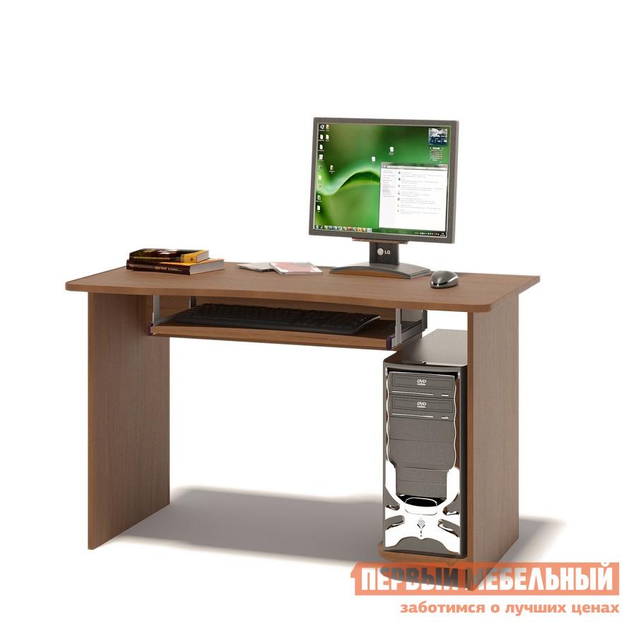 Компьютерный стол Сокол КСТ-04.1 Ноче-эккоКомпьютерные столы<br>Габаритные размеры ВхШхГ 740x1200x600 мм. Вместительный компьютерный стол подходит как для учебы, так и для работы.  Размер столешницы позволяет разместить не только монитор, но и оставить место для занятий школьника или студента.  стол оборудован выкатной полочкой для клавиатуры (650 х 356 мм), а также полкой под системный блок.  Обратите внимание! Стол универсальный по сборке: полка под системный блок может располагаться как справа, так и слева. Изделие поставляется в разобранном виде.  Хорошо упаковано в гофротару вместе с необходимой фурнитурой для сборки и подробной инструкцией.  Рекомендуем сохранить инструкцию по сборке (паспорт изделия) до истечения гарантийного срока.<br><br>Цвет: Коричневое дерево<br>Высота мм: 740<br>Ширина мм: 1200<br>Глубина мм: 600<br>Кол-во упаковок: 1<br>Форма поставки: В разобранном виде<br>Срок гарантии: 2 года<br>Тип: Прямые<br>Материал: Дерево<br>Материал: ЛДСП<br>Размер: Большие<br>Размер: Ширина 120 см<br>Без надстройки: Да<br>Стиль: Современный<br>Стиль: Модерн