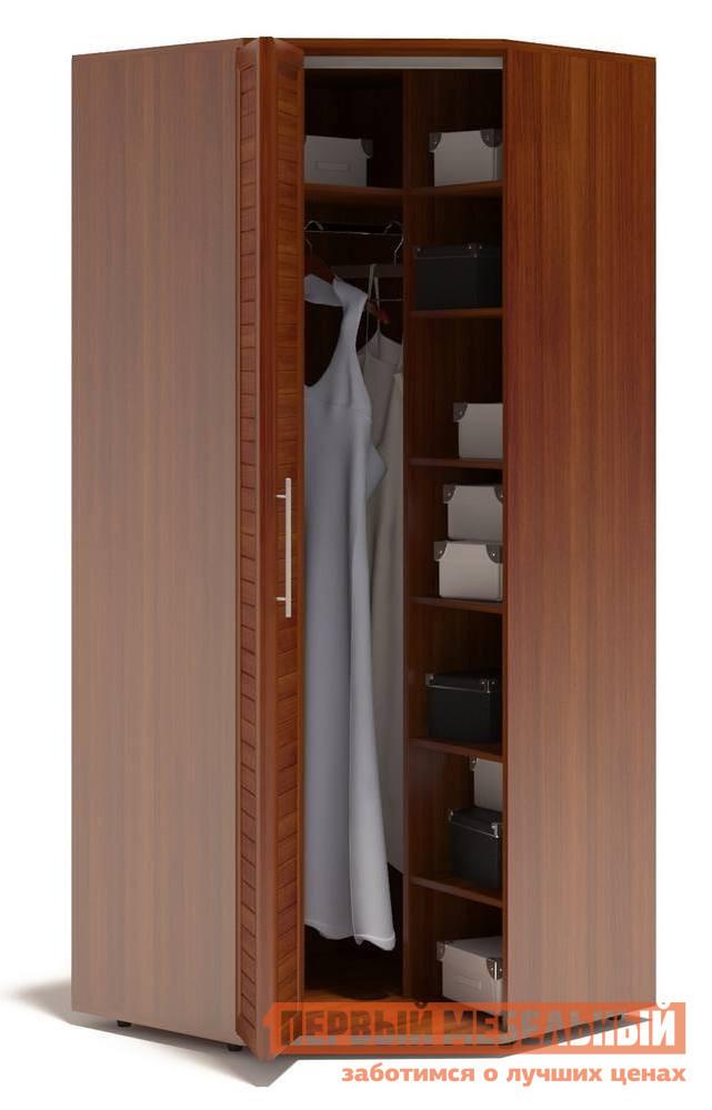 Шкаф Сокол Аркадиа ШО-20.99 Испанский орехШкафы Сокол<br>Габаритные размеры ВхШхГ 2334x990x990 мм. Угловой шкаф для одежды шириной 990 мм.  Изделие оснащается полками и штангой для одежды.  Фасад выполнен с применением наборной планки, придающей изделию современный вид.  Дверь-гармошка открывается налево. Шкаф выполнен из высококачественного ЛДСП толщиной 16 и 22 мм и оснащен надежной импортной фурнитурой, отлично зарекомендовавшей себя в течение длительной эксплуатации. Кромка на основе ПВХ толщиной 0,4 мм защитит торцы изделий от сколов и повреждений, вызванных неосторожным обращением. Рекомендуем сохранить инструкцию по сборке (паспорт изделия) до истечения гарантийного срока.<br><br>Цвет: Испанский орех<br>Цвет: Красное дерево<br>Высота мм: 2334<br>Ширина мм: 990<br>Глубина мм: 990<br>Кол-во упаковок: 5<br>Форма поставки: В разобранном виде<br>Срок гарантии: 2 года