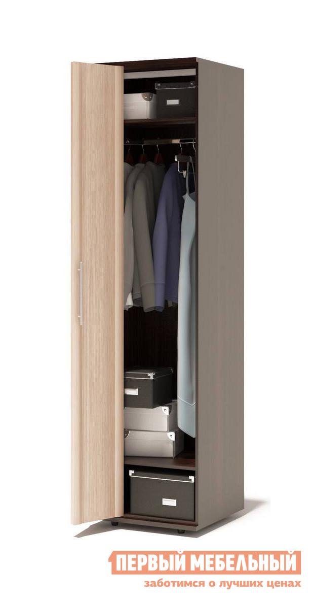 Шкаф-гармошка Сокол Маркес ШГ-206.1 Д Левый, Без зеркала, Венге / Беленый дуб
