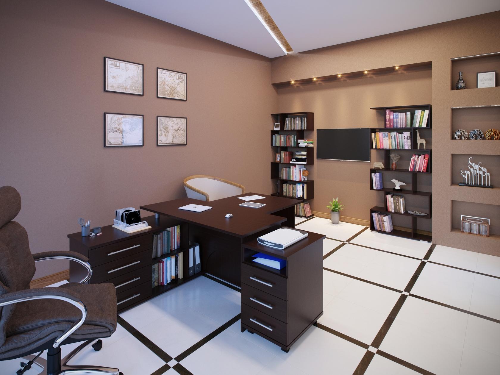 Комплект офисной мебели Сокол Сокол Р Венге