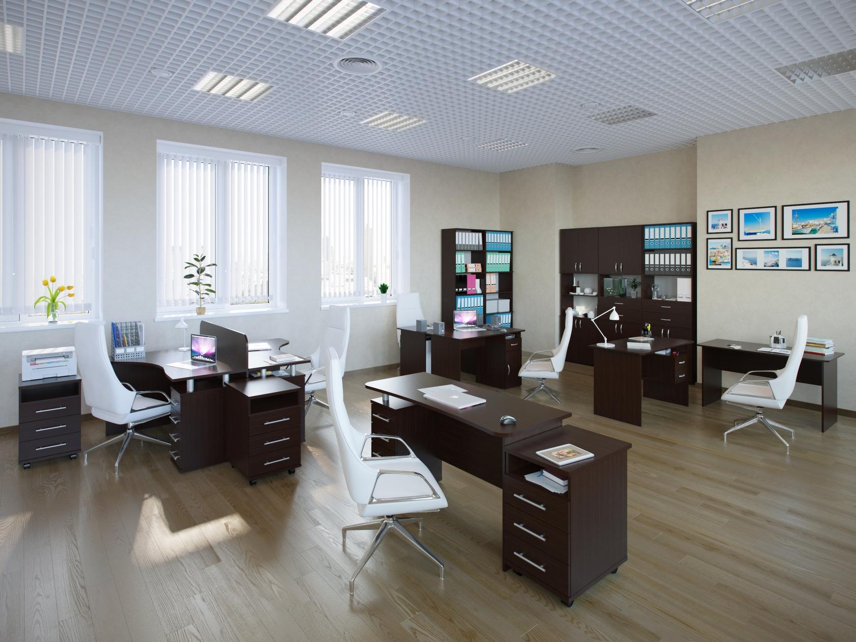 Комплект офисной мебели Сокол Сокол П К1 Венге
