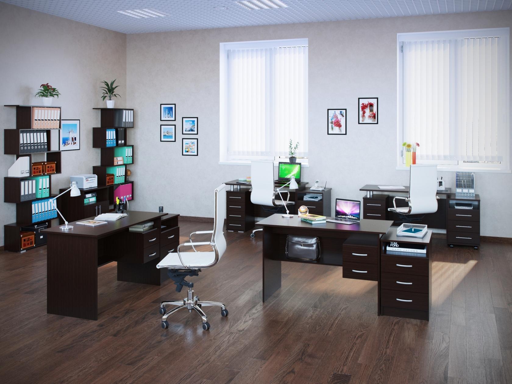 Комплект офисной мебели Сокол Сокол П К3 Венге комплект офисной мебели сокол сокол п к3 венге
