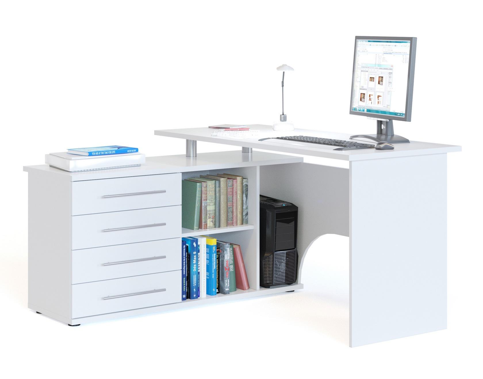 Письменный стол  КСТ-109 Белый, Левый