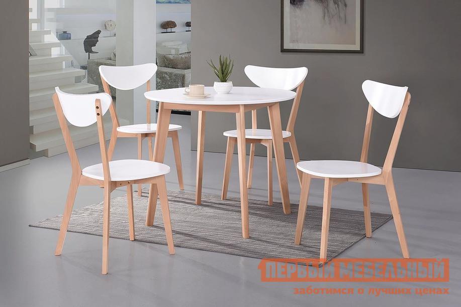 Обеденная группа для столовой и гостиной Tetchair Стол BOSCO + Стул MAXI с твёрдым сидением (4 шт) tetchair стул компьютерный step
