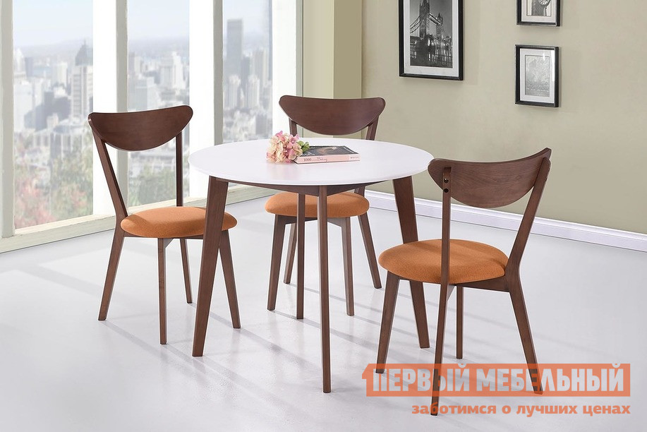 Обеденная группа для столовой и гостиной Tetchair Стол BOSCO + Стул MAXI с мягким сидением (3 шт) стул tetchair стул maxi с твёрдым сидением