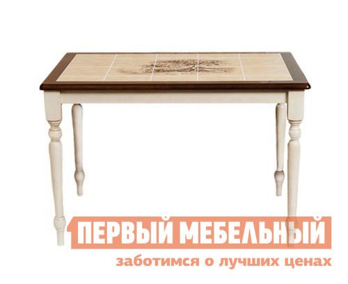 Фото Обеденный стол Tetchair СТ 3045Р Античный белый / Темный дуб. Купить с доставкой