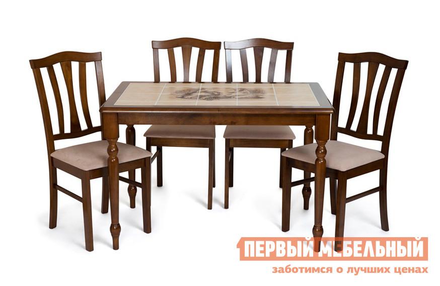 Обеденная группа для гостиной Tetchair СТ 3045Р + 4 шт. СТ 8162 обеденный стол с керамической плиткой tetchair ст 3045р
