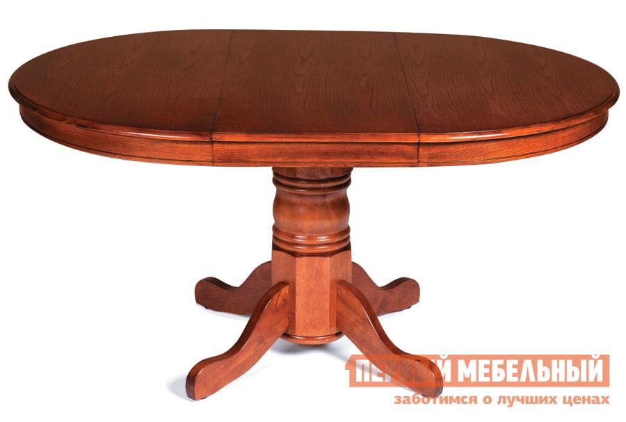 Обеденный стол Tetchair Rochester -PPP- (4260-PPP) Дуб в красноту (G.)Столы в гостиную<br>Габаритные размеры ВхШхГ 750x1070 / 1530x1070 мм. Стол круглый раскладной.  Столешница состоит из ДСП в дубовом шпоне, кант столешницы также выполнен из дубового шпона.  Ножка стола изготовлена из массива натурального дерева гевеи, которая обладает красивой текстурой.  Модель имеет столешницу диаметром 107см, которая раскладывается до ширины 153см.  Изделие отличается высокой надежностью, прочностью и стильным дизайном.  Прекрасный вариант, как для квартиры, так и для загородного дома.                    Внимание! Средняя часть стола, служащая для увеличения рабочей поверхности не скрывается в конструкции и хранится отдельно от стола в компактном состоянии. Изделие поставляется в разобранном виде.  Объем упаковки, м3: 0,231. Вес упаковки, кг: 45.<br><br>Цвет: Дуб в красноту (G.)<br>Цвет: Красное дерево<br>Высота мм: 750<br>Ширина мм: 1070 / 1530<br>Глубина мм: 1070<br>Форма поставки: В разобранном виде<br>Срок гарантии: 1 год<br>Тип: Раздвижные, Трансформер<br>Материал: Деревянные, из ЛДСП, из шпона<br>Форма: Круглые, Овальные<br>Размер: Маленькие<br>Особенности: С одной ножкой
