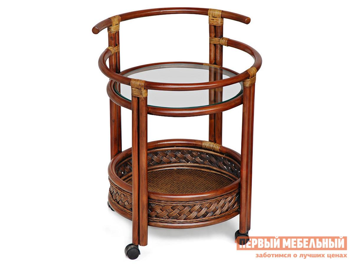 Плетеный стол со стеклом Tetchair ANDREA