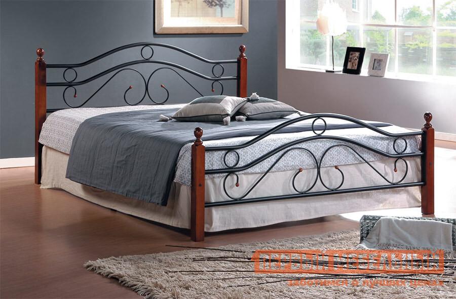 купить Полутороспальная деревянная кровать Tetchair AT-803 по цене 9440 рублей