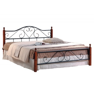 Кровать Tetchair AT-815 Гевея / Металл, QUEEN 1600 Х 2030
