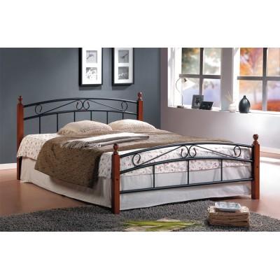 Кровать Tetchair AT-8077 Гевея / Металл, QUEEN 1600 Х 2000